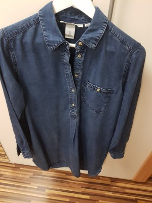 H&M Damen Jeans Hemd Kleid Longshirt Tunika-Bluse Blusen Kleid  - Größe  36