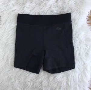 H&M Damen kurze Sporthose Shorts Laufhose Größe XS 34 Eng Schlüsselfach Schwarz