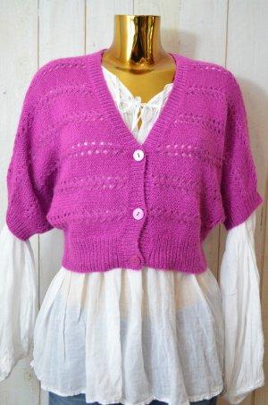 H&M Knitted Bolero magenta wool