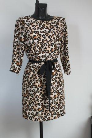 H&M Damen Sommerkleid Etui Empirekleid Leoprint Leoparden 42-44 wie neu