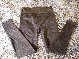 H&M Damen Sport-Leggings anthrazit Gr. M