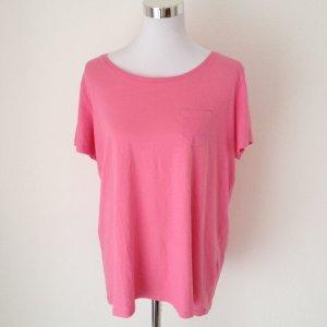 H&M Damen T-Shirt rosa pink neon Gr XL Übergröße