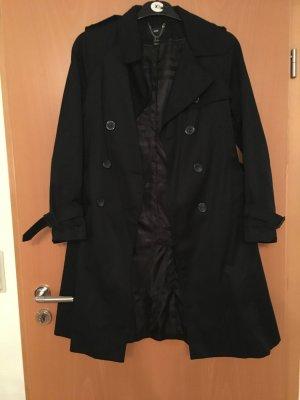 H&M Damen Trenchcoat/Mantel in schwarz