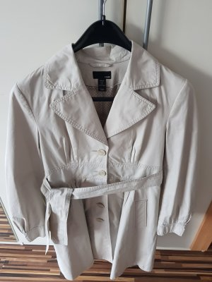 H&M  Damen Trenchcoat Sommer Jacke Mantel in Beige - Größe 38