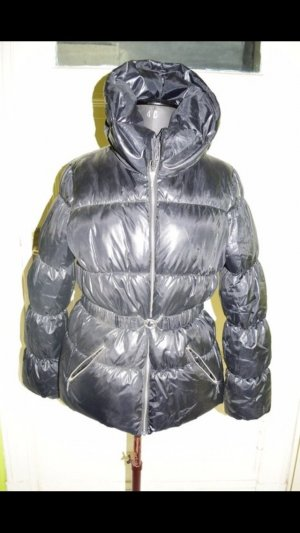H&M Down Jacket black-silver-colored