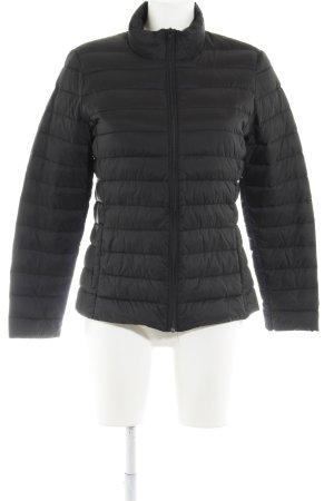 H&M Daunenjacke schwarz Steppmuster Casual-Look