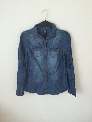 H&M Denim Jeans Hemd Dunkelblau