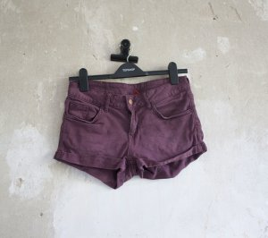 H&M Denim-Shorts in dunkelrot