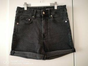 h&m denim stretch shorts