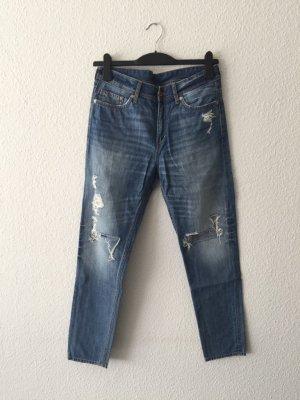 H&M destroyed Denim Boyfriend-Jeans 38