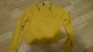 H&M Devided senfgelb gelb Pullover Pulli Oberteil Strick Größe S XS