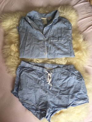 H&M Pijama blanco-azul celeste