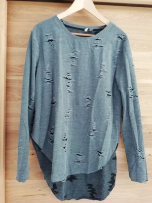 H&M Distressed Destroyed Used Look Shirt Longsleeve