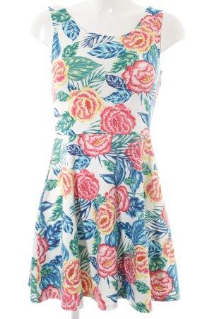 H&M Divided A-Linien Kleid Blumenmuster Beach-Look