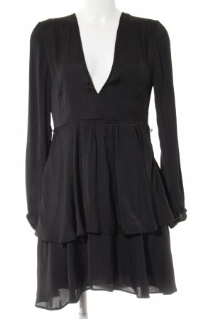 H&M Divided A-Linien Kleid schwarz Punktemuster Elegant