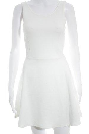 H&M Divided A-Linien Kleid weiß Elegant