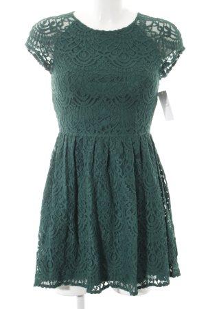 H&M Divided Abendkleid dunkelgrün Casual-Look