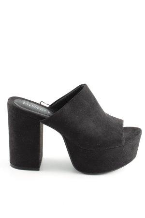 H&M Divided Mule à talon noir style décontracté