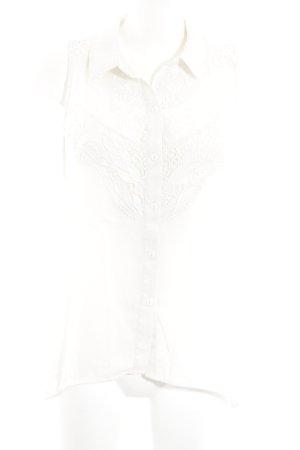 H&M Divided ärmellose Bluse hellbeige Casual-Look