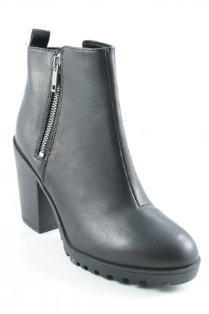 H&M Divided Ankle Boots schwarz Matt-Optik