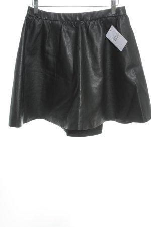 H&M Divided Asymmetrische rok zwart casual uitstraling