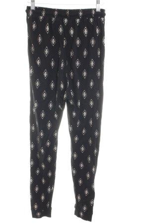 H&M Divided Pantalon «Baggy» noir-blanc cassé imprimé allover