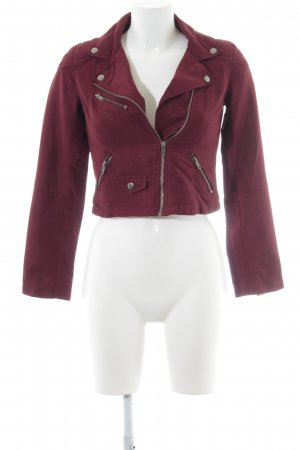 H&M Divided Biker Jacket bordeaux biker look