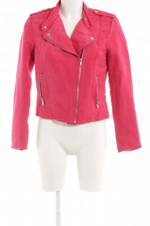 H&M Divided Bikerjacke pink Biker-Look