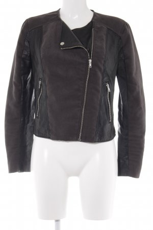 H&M Divided Bikerjacke schwarz-anthrazit Biker-Look