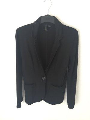 H&M Divided Blazer aus Sweaterstoff Schwarz