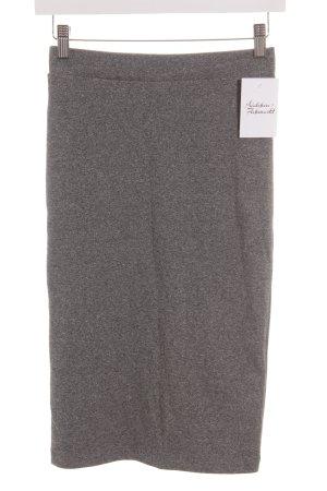 H&M Divided Bleistiftrock grau-weiß meliert Casual-Look