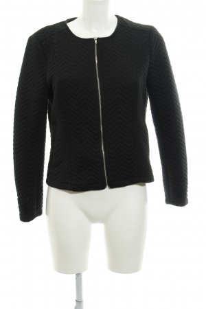 H&M Divided Blouson schwarz Zackenmuster Casual-Look