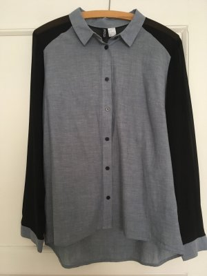H&M Divided Bluse Heanshemd Jeansbluse M 38