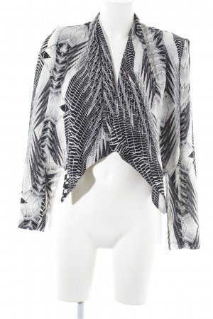 H&M Divided Bolero hellgrau-weiß abstraktes Muster Casual-Look