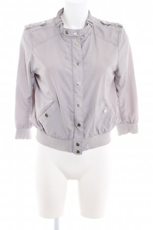 H&M Divided Bomber Jacket light grey simple style