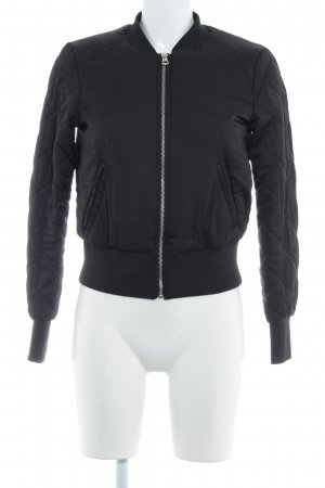 H&M Divided Chaqueta bomber negro look casual