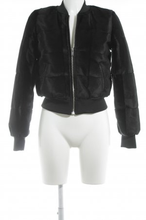 H&M Divided Bomber Jacket black fluffy