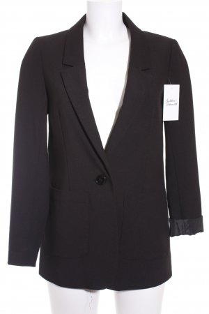 H&M Divided Boyfriend-Blazer schwarz-blau klassischer Stil