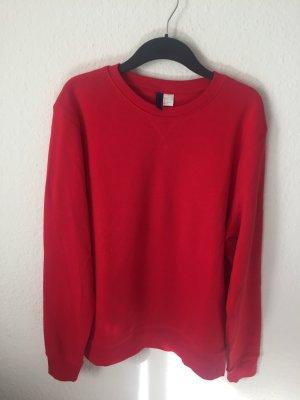 H&M Divided Boyfriend Sweatshirt Rot