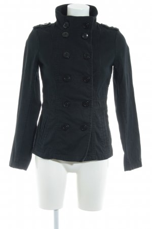 H&M Divided Pea Jacket black casual look