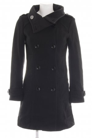 H&M Divided Heavy Pea Coat black casual look