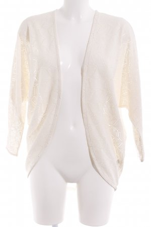 H&M Divided Cardigan creme Spitzen-Optik