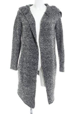 H&M Divided Cardigan grau-schwarz meliert Kuschel-Optik