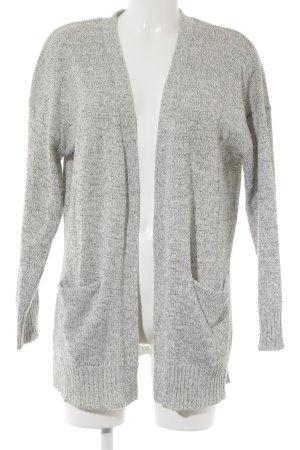 H&M Divided Cardigan weiß-schwarz meliert schlichter Stil