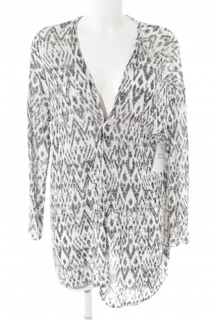 H&M Divided Cardigan white-black zigzag pattern casual look
