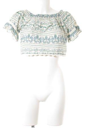 H&M Divided Carmenshirt Allover-Druck Romantik-Look