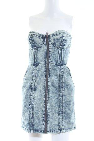 H&M Divided Corsagejurk blauw straat-mode uitstraling
