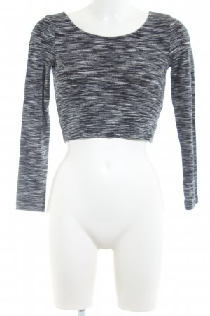H&M Divided Camicia cropped nero-grigio chiaro stile casual