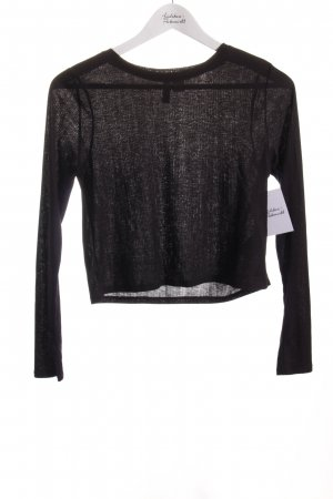 H&M Divided Cropped Shirt schwarz Street-Fashion-Look