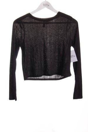 H&M Divided Cropped Shirt schwarz Street-Fashion-Look